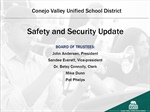 Safety and Security Update - Board Meeting Presentation