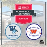 Walnut Elementary & Westlake High Receive Honor Roll Recognition from ERP
