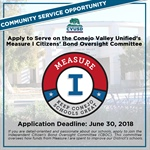Apply to Serve on CVUSD's Measure I Citizens' Bond Oversight Committee