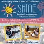 SHINE Home Study Now Offers $1,000 Stipend for Students to Follow their Extracurricular & Academic Enrichment Passions