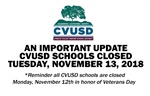 Nov. 11th: Important Update from Superintendent Dr. Mark McLaughlin