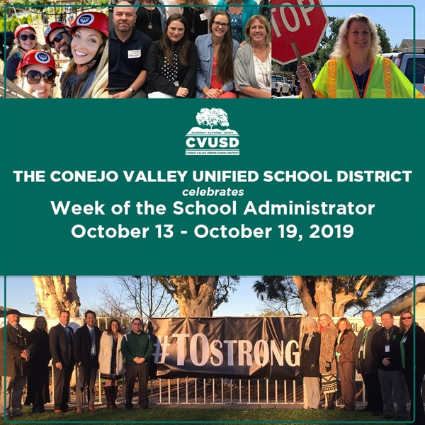 "CVUSD Celebrates ""Week of the School Administrator"""
