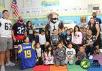The Los Angeles Rams Bring Holidays for Heroes Military Appreciation Campaign to Glenwood Elementary School