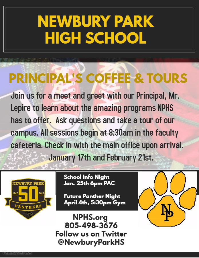 NPHS Coffee and Tours information