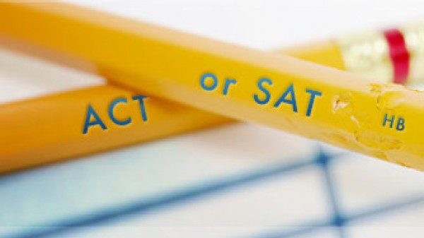 pencils etched with SAT and Act