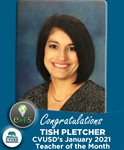 Congratulations Tish Pletcher of EARThS - Our January 2021 Teacher of the Month!
