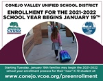 CVUSD Neighborhood School Enrollment Begins January 19th