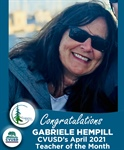 Congratulations to Gabriele Hempill of Sequoia Middle - Our April Teacher of the Month!
