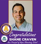 Shane Craven Announced as the New Principal of Aspen Elementary School