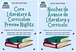 Core Literature & Curriculum Preview Nights